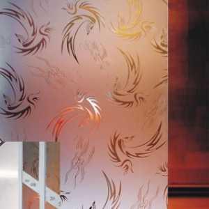 феникс бесцветное матовое декоративное стекло