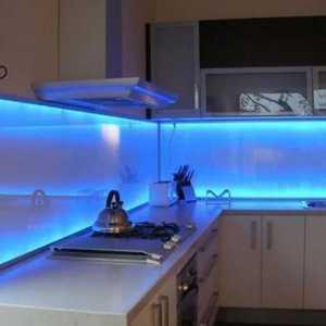 подсветка фартука световой короб