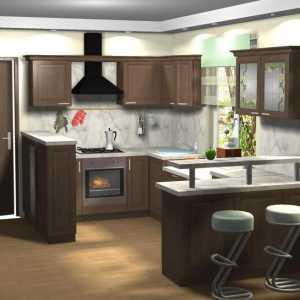 п образные кухни 10